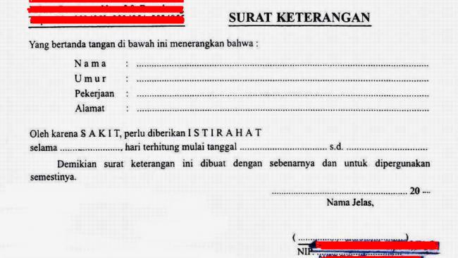 Polisi Berhasil Meringkus Penjual Surat Keterangan Sakit Palsu