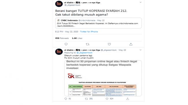 Koperasi Syariah 212 Ilegal Dibubarkan Ojk Netizen Ojk Siap